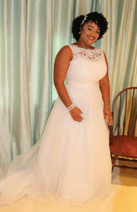 Dulce Gonzalez, the beaming bride who knows it truly is good luck to have it rain on your wedding day, even if it means the original plan is rained out.