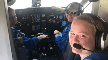 All-female hurricane hunter flight crew makes history.