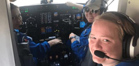 All-female hurricane hunter flight crew makes history.