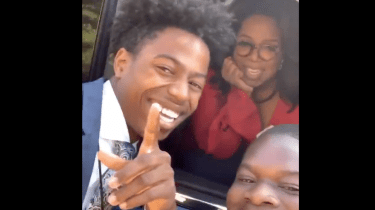 Oprah Winfrey sends a new iPhone 11 to a Morehouse College student with a cracked screen.