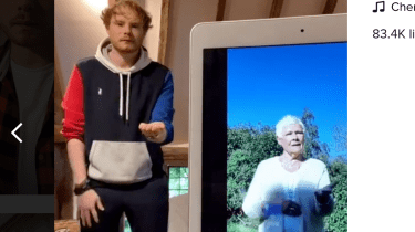 Dame Judi Dench is in isolation in her home in England, trying to avoid the coronavirus. She's passing the time making TikTok videos with her grandson, Sam.