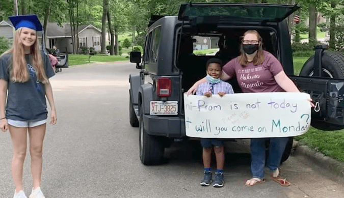 The mini-prom for babysitter Rachel Chapman came complete with a prom-posal.