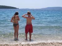 Luzie und Robin am Strand