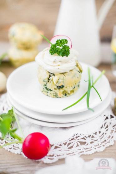 Blattspinat-Feta-Muffins