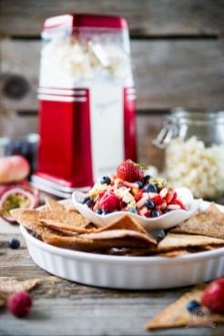Süße Tortilla Chips mit Früchtesalsa