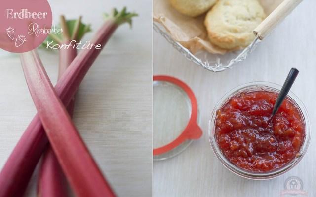 Erdbeer-Rhabarber-Konfitüre – jetzt geht es ans Eingemachte…