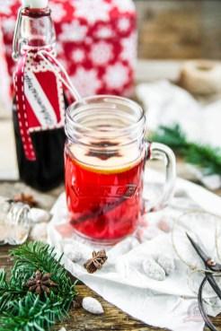 Schokomandeln, Winterzucker und Glühweinsirup