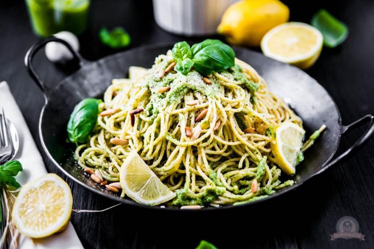 Basilikum Lemon Pasta – mit Frischekick ins Pastaglück…