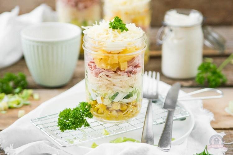 Schichtsalat – Stapelspaß im Einmachglas [enthält WERBUNG]