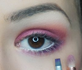 Apply Seize which was base color on the crease and apply it on the pencil brush really close to the lash line, then take Sketch with waterliner brush and apply it right under your lash line