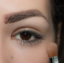1. first apply eyeshadow base/primer, then highlight your brow bone under your eyebrows; Brush- Sigma Large Shader - E60, Eyeshadow- KIKO Infinity 222