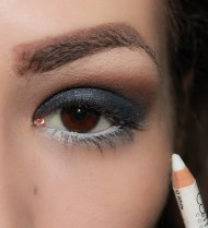 5. use white kohl eye pencil on your lower lash line. This step will open your eyes; Catrice Cosmetics kohl kajal o4o white eye pencil