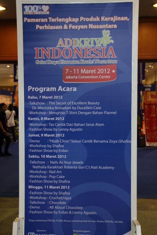 Adikriya Indonesia: Gelar Karya Ekonomi Kreatif Nusantara, 7 - 11 Maret 2012 (1/6)