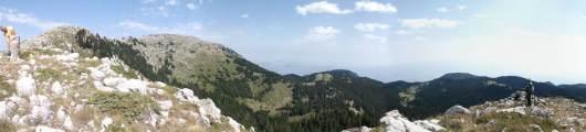 Θέα προς βόρεια πλευρά Οίτης