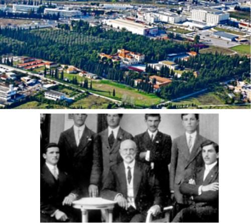 Η Αμερικανική Γεωργική Σχολή (πάνω, όπως είναι σήμερα) ιδρύεται στα προάστια της Θεσσαλονίκης το 1904 από τον Δρ. John Henry House και τη γυναίκα του Susan Adeline. Ο Δρ. House (στην κάτω φωτογραφία στο μέσον το 1911, ανάμεσα σε διδάσκοντες και διδασκόμενους) ήταν ιδεαλιστής ιεραπόστολος που προσπάθησε κι έκαμε πράξη στην Αμερικανική Γεωργική Σχολή το πιστεύω του, ότι η εκπαίδευση του παιδιού αφορά στο μυαλό, στα χέρια και στην ψυχή του.