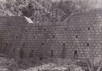 Θαυμάξτε τέχνη μαστορική σε τούτο το φράγμα που κατασκευάστηκε το 1939 στο χείμαρρο Ξηρίλλα Φαλαίας Ηπείρου (από το αρχείο της δασικής υπηρεσίας).