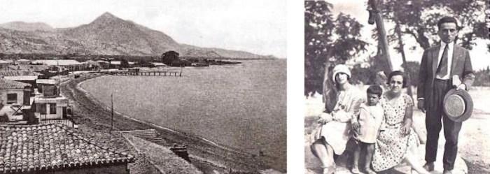 1. Το Ξυλόκαστρο στις αρχές του 20ού αι. - 2. Ο Κ. Καρυωτάκης στον Πευκιά, το 1927