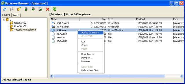 Part 1 – Configuring the LeftHand VSA – Das Blinken Lichten