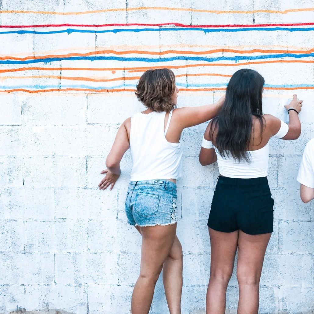 Taller de graffiti participativo para niños y niñas
