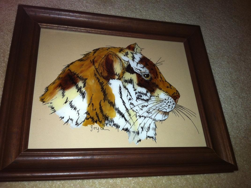 Jan Reverse Glass Tiger