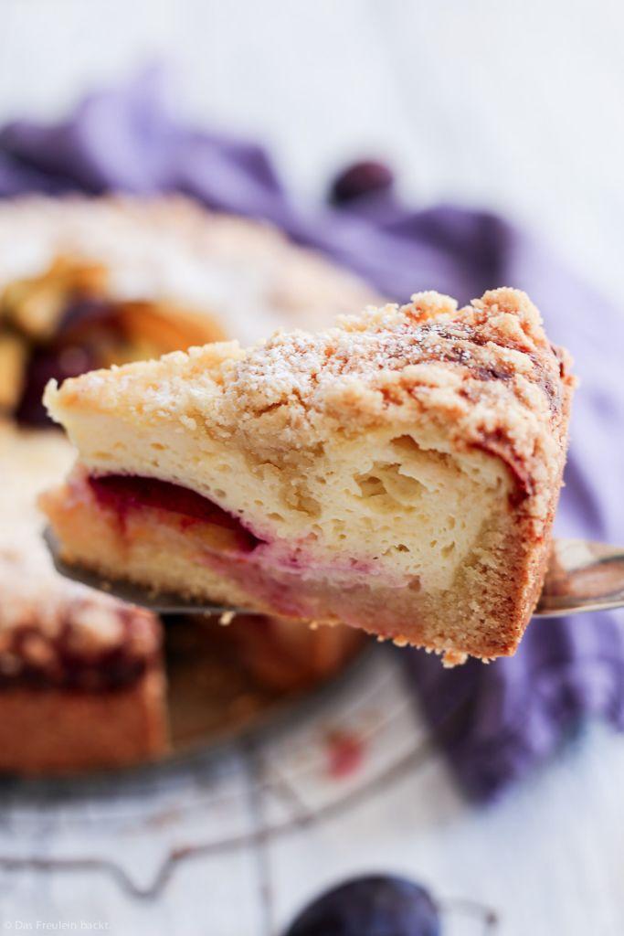 Zwetschgen-Kaesekuchen