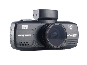 product photo of the Nextbase 512G dash cam, as seen from the front (lens side)