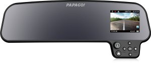 Product photo of the Papago GS260 rear view mirror dash cam