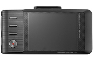 The Thinkware X550 dash cam, as seen from the rear (screen side)