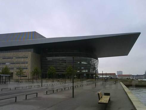 Side view of Copenhagen opera house