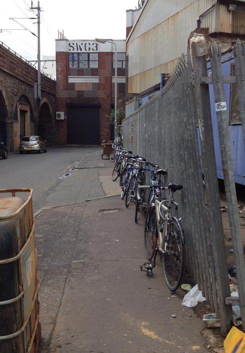 SWG3 bike parking