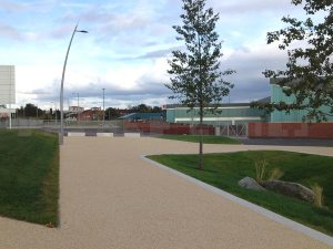 Dalmarnock train station and path