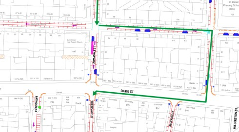 Detour from Armadale St to Whitevale St
