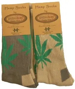 Leaf Hiker hemp socks