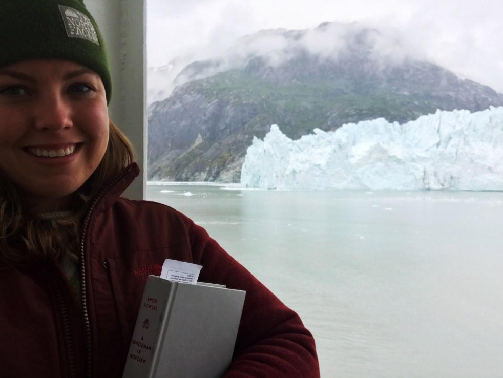 glacier and books