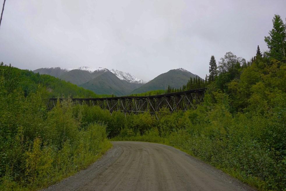McCarthy Highway Alaska train bridge