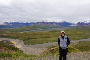 Dashin' Ash in Denali with Mountains