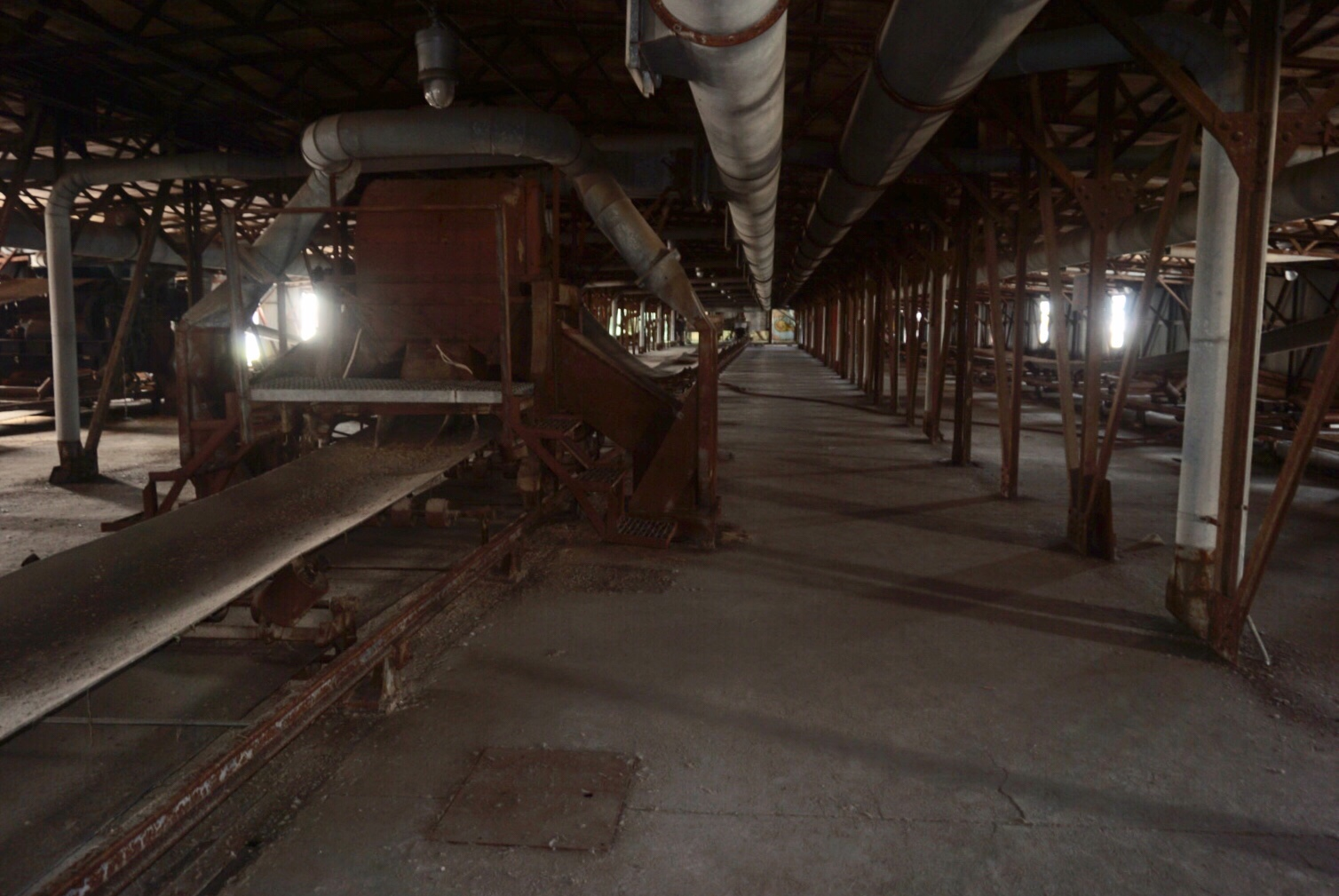 How the grain moves once inside the silos in Buffalo