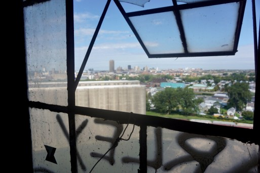 Buffalo skyline from grain silo