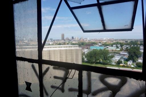 Buffalo skyline from grain silo