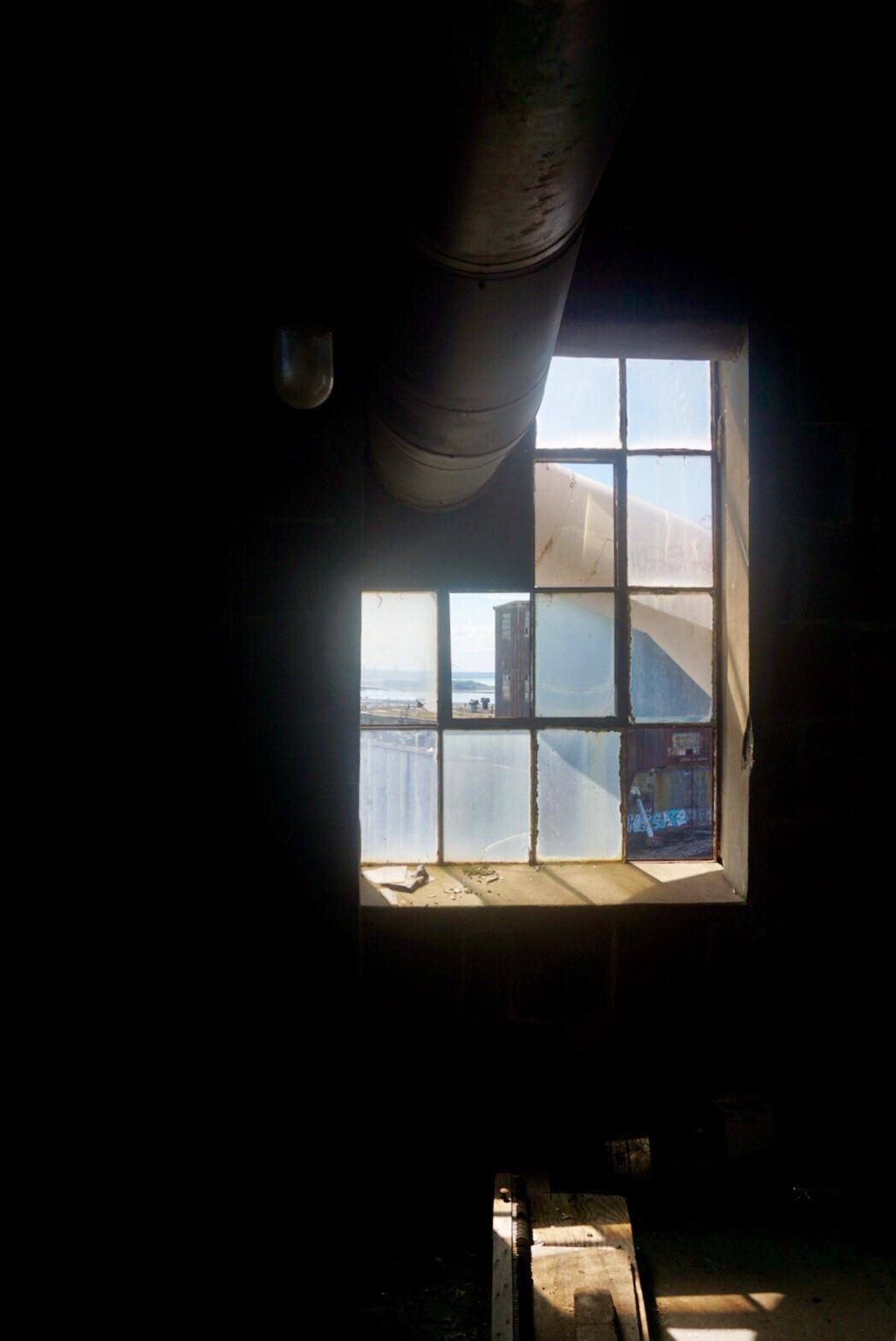 Old windows in Grain Silo in Buffalo