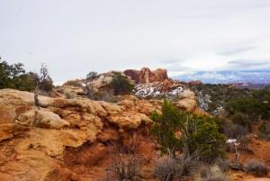 Desert rocks in Arches National Park