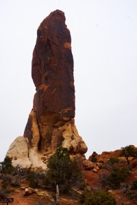 Dark Angel rock tower in Arches National Park