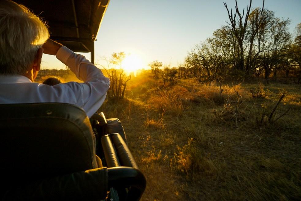Sunset on the Safari Truck