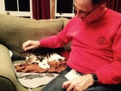 Peanut with dad, Paul