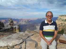 Paul at a viewpoint of the Grand Canyon