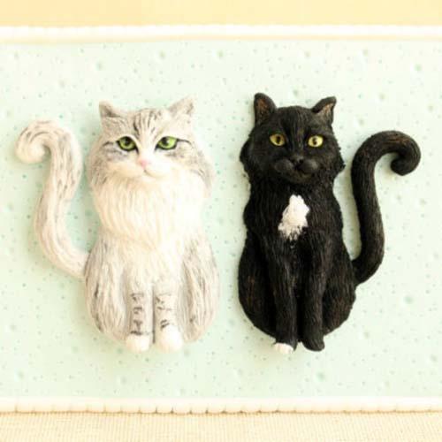Cat memorials small plymer clay figures