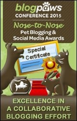 BlogPaws Special Certificate 2015