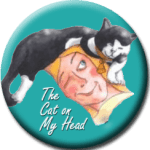 cat on my head button