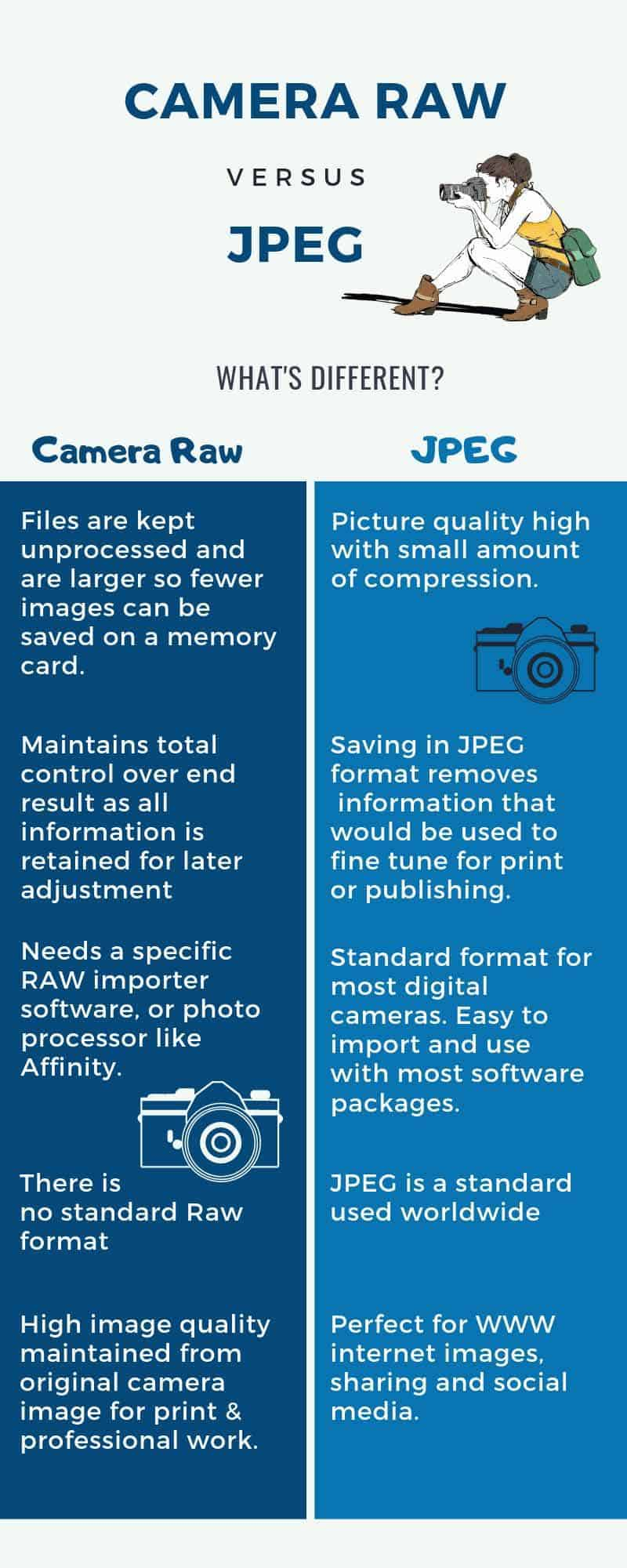 What is Camera Raw Inforgraphic