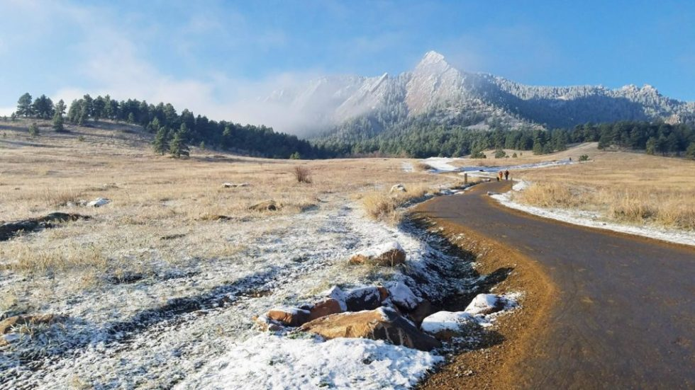 Take in the scenery while running this winter